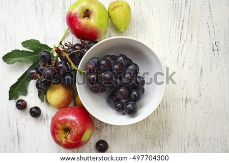 fresh fruit on the table
