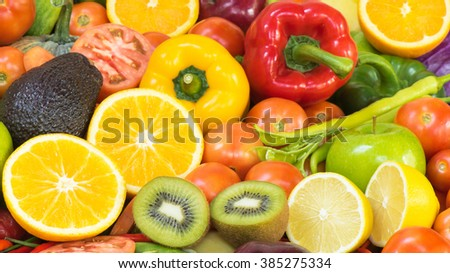 Fresh Fruits and vegetables for healthy lifestyle