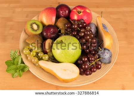 Fresh fruits dish - stock photo