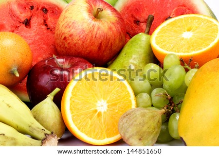Fresh fruits for backgrounds - stock photo