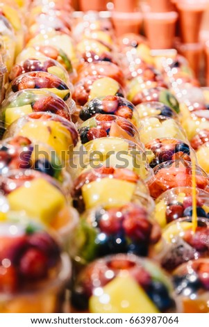 Fresh Fruits For Sale In Spanish Market