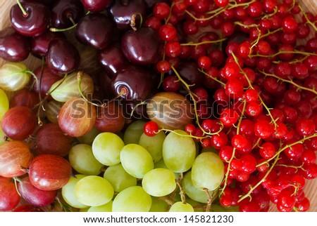 fresh fruits of summer - stock photo