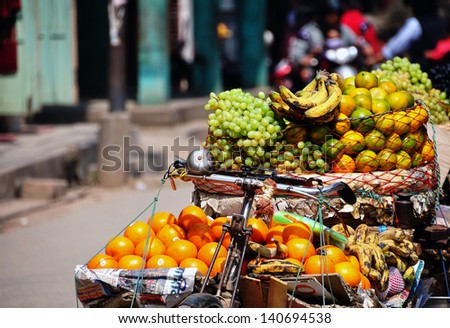 Fresh Fruits on a Bike