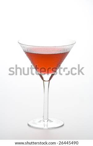 fresh glass cool cocktail isolated over white