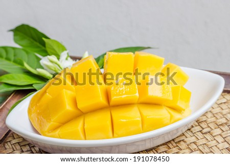Fresh golden mango - stock photo