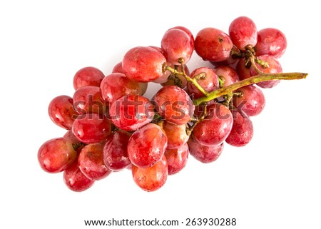 fresh grape on white background. - stock photo