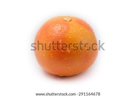 fresh grapefruit isolated on white background   - stock photo