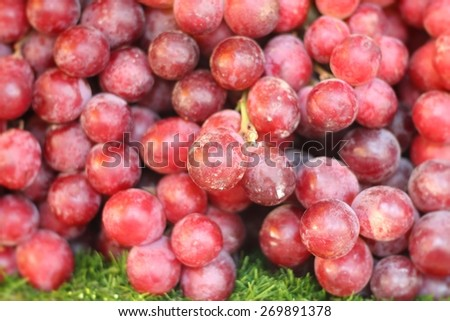 Fresh grapes at the market