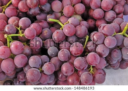 Fresh grapes, close-up pictures