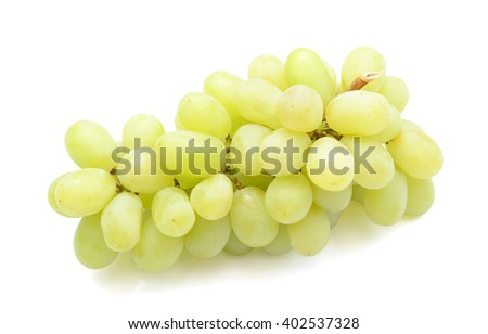 fresh grapes isolated on white  - stock photo