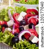 Fresh greek salad. - stock photo