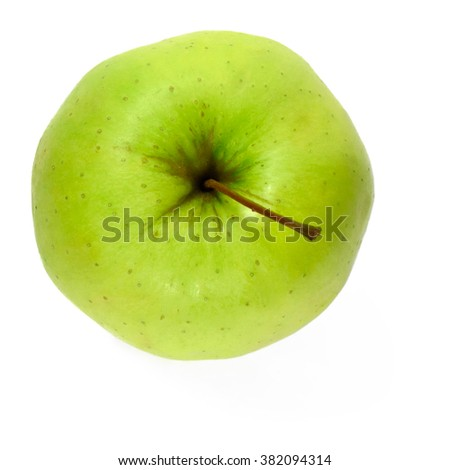 Fresh green apple, isolated on white background. Granny Smith Apple. - stock photo