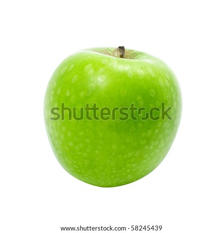 fresh green apple with white isolate background
