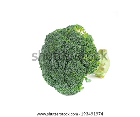 Fresh green broccoli. Isolated on a white background.