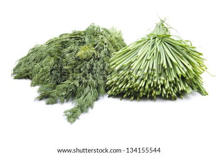 Fresh Green Dill and Chives