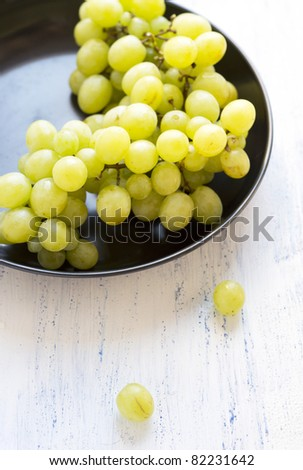 fresh green grapes - stock photo