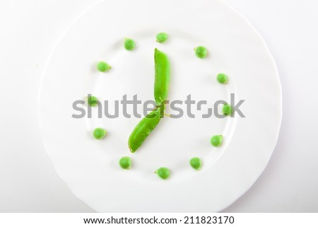 Fresh green pea - stock photo