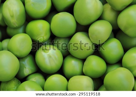 fresh green pea as natural food background