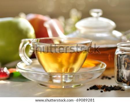 fresh green tea - stock photo