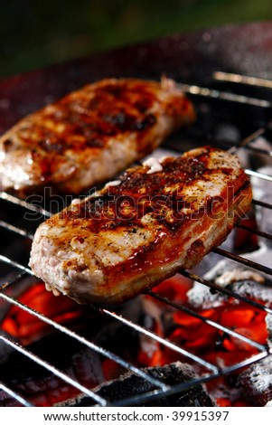 fresh grilled steak with Peper