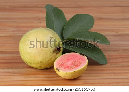 Fresh guava fruit. - stock photo