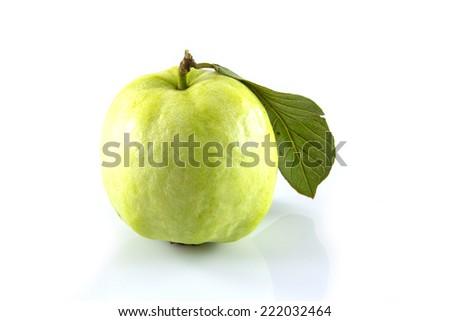 fresh guava on white background - stock photo