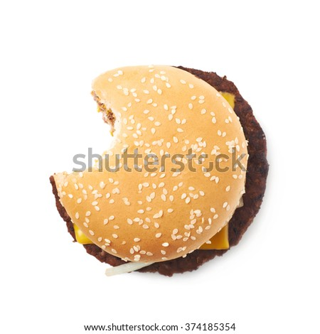 Fresh hamburger isolated - stock photo