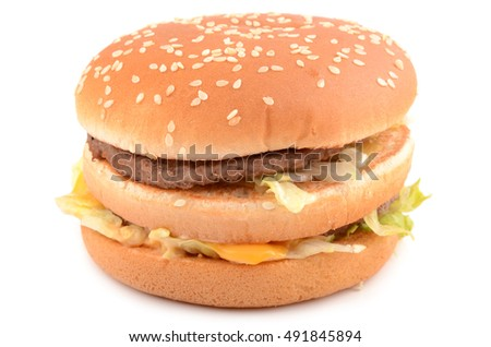 fresh hamburger isolated on a white background