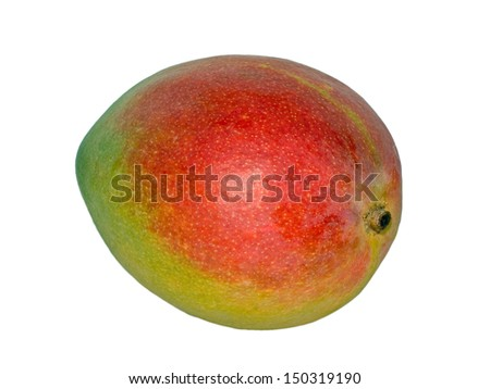 Fresh Hawaiian Mango over white background (isolated)  - stock photo