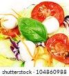 Fresh healthy salad ingredients - stock photo
