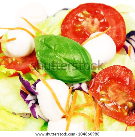 Fresh healthy salad ingredients - stock photo