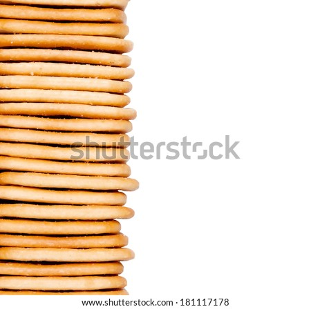 fresh homemade cookies stacked.  background
