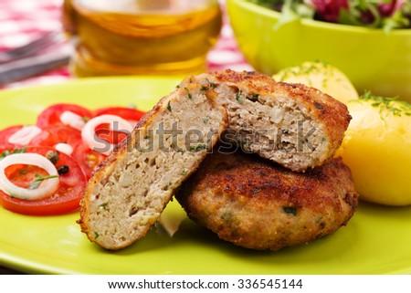 Organic Falafel Pita Pocket Tomato Cucumber Stock Photo ...