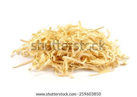 fresh homemade noodles with egg