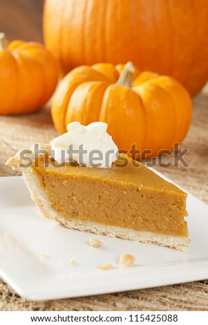 Fresh Homemade Pumpkin Pie made for Thanksgiving