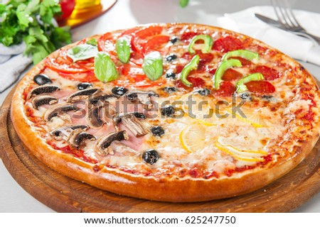 pizza quattro stagioni stock images royalty free images. Black Bedroom Furniture Sets. Home Design Ideas