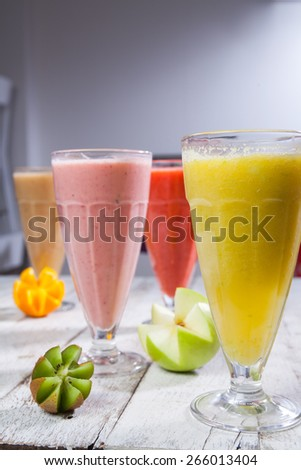 Fresh juice mix fruit, healthy drinks