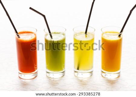 fresh juices - stock photo