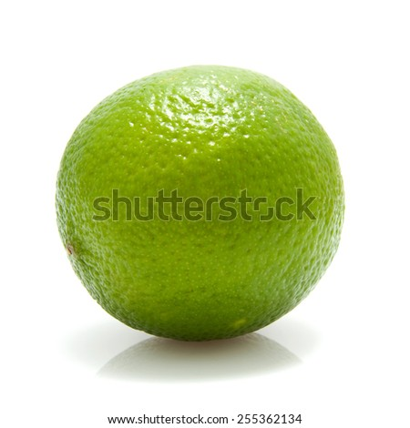 fresh juicy lime, isolated on white background