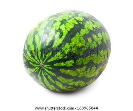 Fresh juicy watermelon isolated on white background - stock photo
