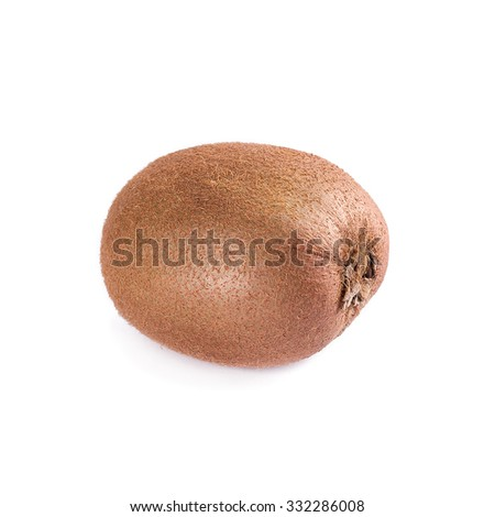 Fresh kiwi fruit isolated on white background - stock photo