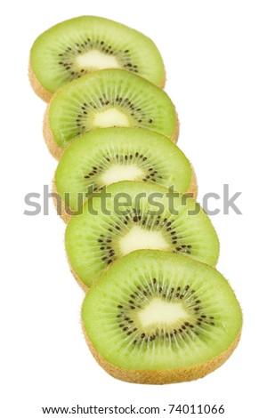 Fresh kiwi isolated on white background - stock photo