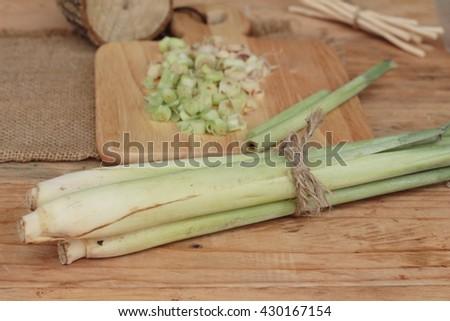 fresh lemon grass is herb  - stock photo