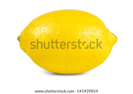 fresh lemon on white background - stock photo