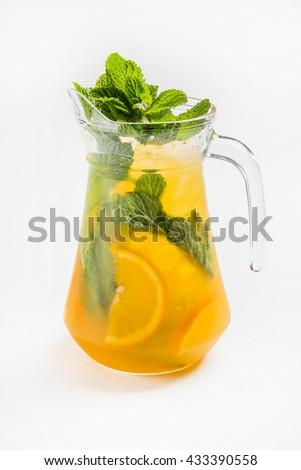 fresh lemonade - stock photo