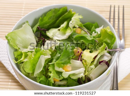 Fresh lettuce on a plate