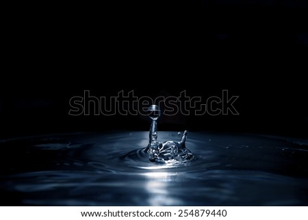 Fresh liquid concept from back water drop - stock photo