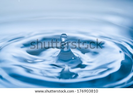 Fresh liquid concept from water drop photo - stock photo