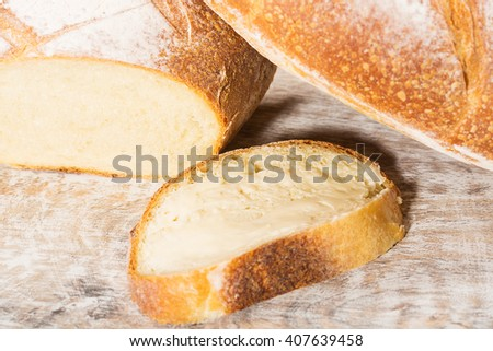 Fresh loaf of delicious French bread - stock photo