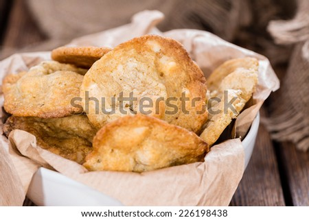 Fresh made Macadamia Cookies (with white chocolate) - stock photo
